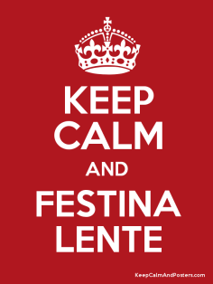 Festina Lente Make Haste Slowly